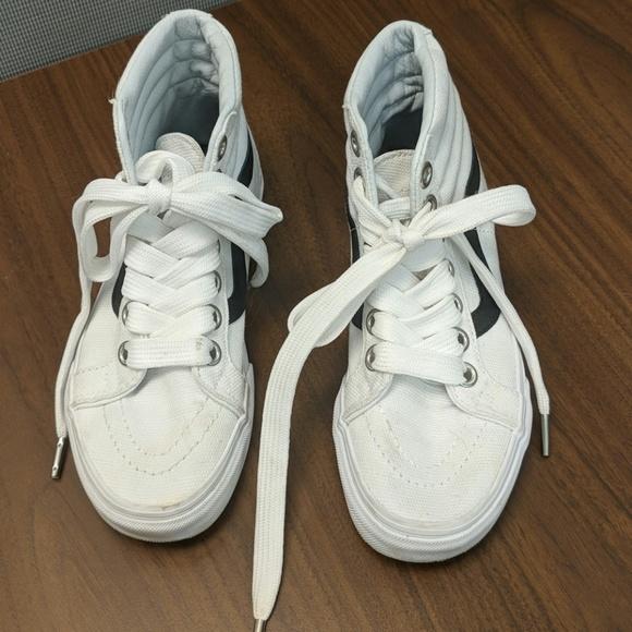 Vans Shoes | Nwot White High Top Vans